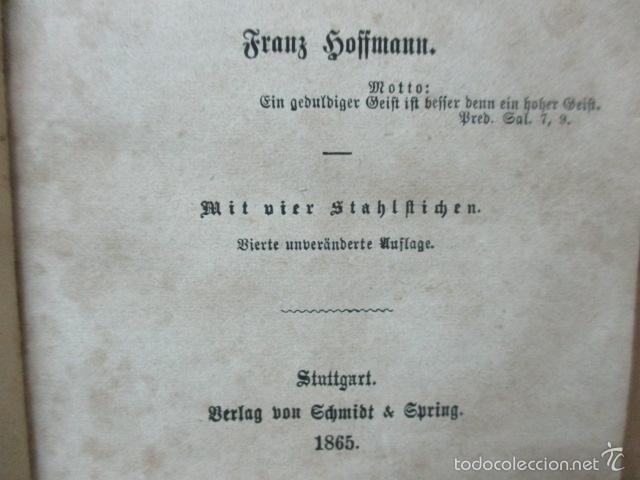 Libros antiguos: Wenn Man Nur Recht Gebult Hat! Franz Hoffman - 1865 - con ilustraciones B/N de caza (ver fotos) - Foto 8 - 56327051