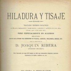 Libros antiguos - Hiladura y Tisaje II. - Joaquin Ribera. - 56363012