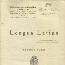 Alte Bücher - LENGUA LATINA. EUSTAQUIO ECHAURI. JOAQUÍN HORTA IMPRESOR. BARCELONA. 1929 - 56381107