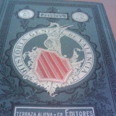 Libros antiguos: ~~~~ HISTORIA DE VALENCIA EN TRES TOMOS, ESCOLANO PERALES, TERRAZA ALIENA Y CIA. EDITORES 1878 ~~~~. Lote 56469943
