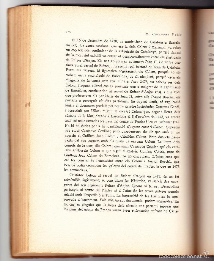 Libros antiguos: CATALUNYA DESCOBRIDORA DAMERICA 1929 R CARRERAS VALLS - Foto 6 - 56473875