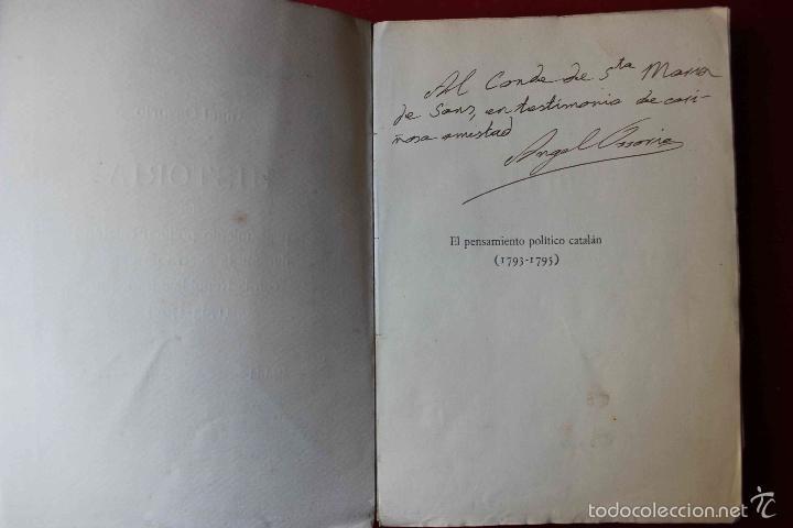 Libros antiguos: Historia del pensamiento político catalán durante 1793-1795. Ángel Ossorio. 1913. Dedicado por autor - Foto 2 - 56590291