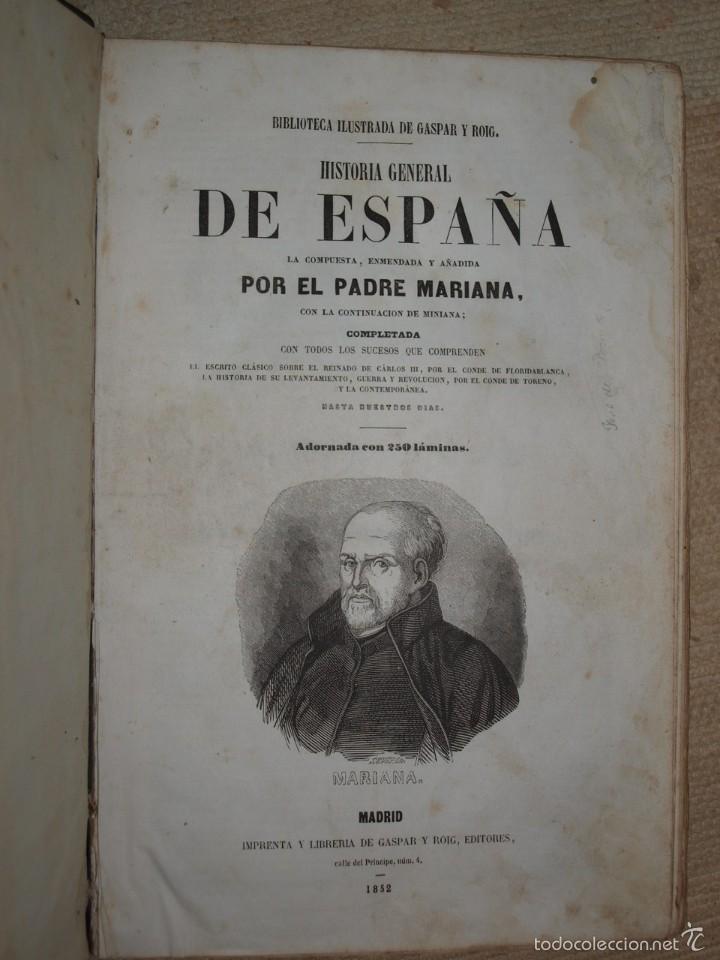 Libros antiguos: Padre Mariana. Historia General de España, Madrid, 1852. - Foto 7 - 56644172
