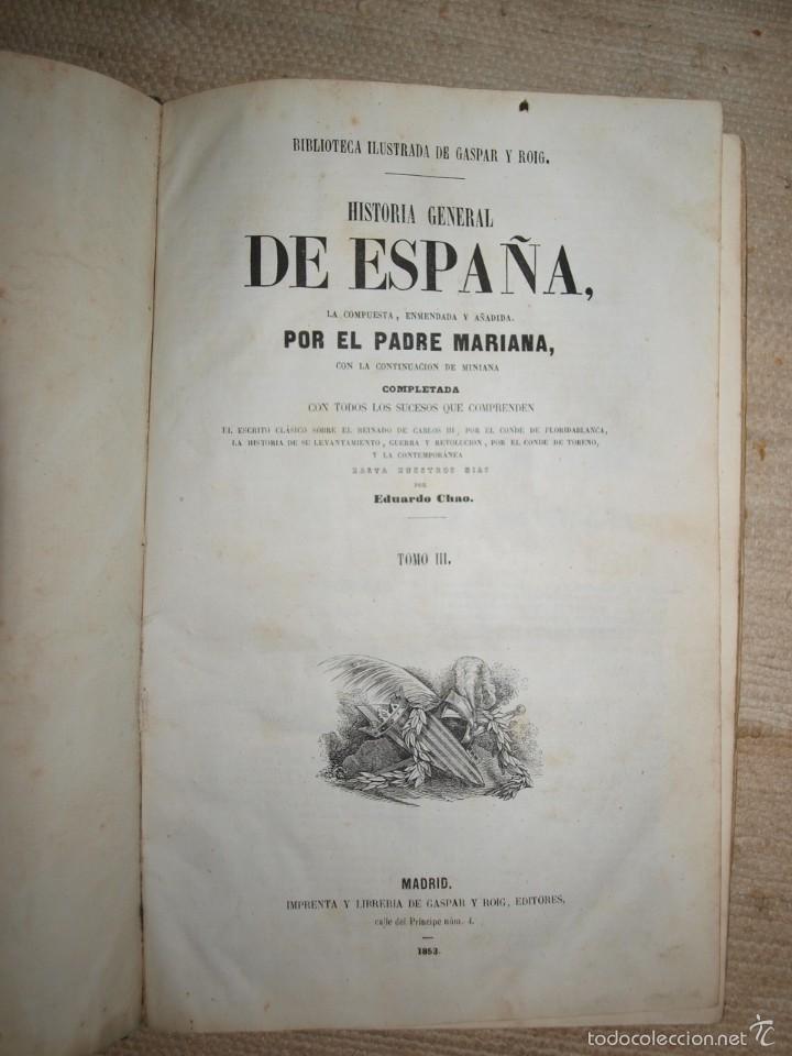 Libros antiguos: Padre Mariana. Historia General de España, Madrid, 1852. - Foto 8 - 56644172