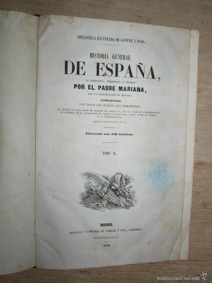 Libros antiguos: Padre Mariana. Historia General de España, Madrid, 1852. - Foto 14 - 56644172