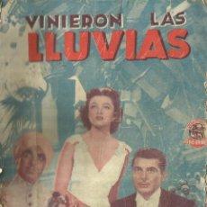 Libros antiguos: VINIERON LAS LLUVIAS. EDICIONES BISTAGNE. BARCELONA. Lote 56692737