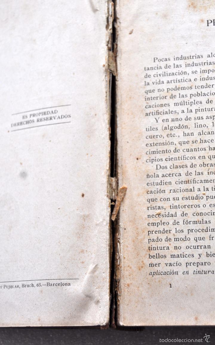 Libros antiguos: MANUAL DEL TINTORERO Y DEL QUITAMANCHAS. ROBERTO LEPETIT. ED. GUSTAVO GILI MCMXIII - Foto 6 - 56752193
