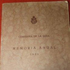 Libros antiguos: LIBRO COMISARIA DE LA SEDA, MEMORIA ANUAL 1928, MADRID. Lote 56805978