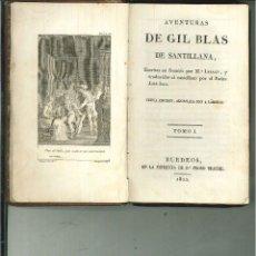 Libros antiguos: AVENTURAS DE GIL BLAS DE SANTILLANA. M. LESAGE. Lote 56817942