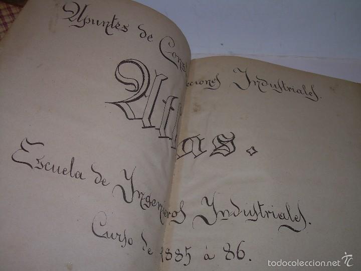 LIBRO TAPAS DE PIEL...APUNTES DE CONSTRUCCIONES INDUSTRIALES..AÑO. 1.885-86.....TODO GRABADOS. (Libros Antiguos, Raros y Curiosos - Ciencias, Manuales y Oficios - Otros)