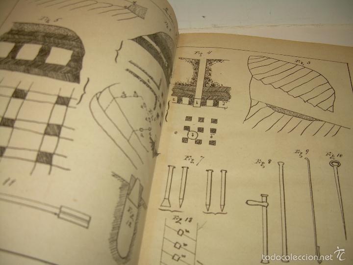 Libros antiguos: LIBRO TAPAS DE PIEL...APUNTES DE CONSTRUCCIONES INDUSTRIALES..AÑO. 1.885-86.....TODO GRABADOS. - Foto 3 - 56820390