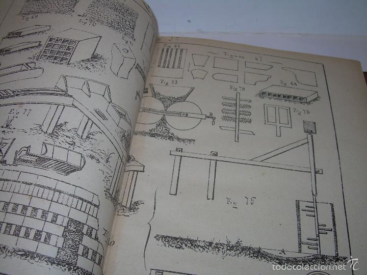 Libros antiguos: LIBRO TAPAS DE PIEL...APUNTES DE CONSTRUCCIONES INDUSTRIALES..AÑO. 1.885-86.....TODO GRABADOS. - Foto 6 - 56820390