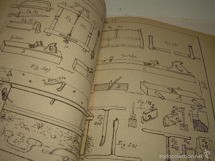Libros antiguos: LIBRO TAPAS DE PIEL...APUNTES DE CONSTRUCCIONES INDUSTRIALES..AÑO. 1.885-86.....TODO GRABADOS. - Foto 7 - 56820390
