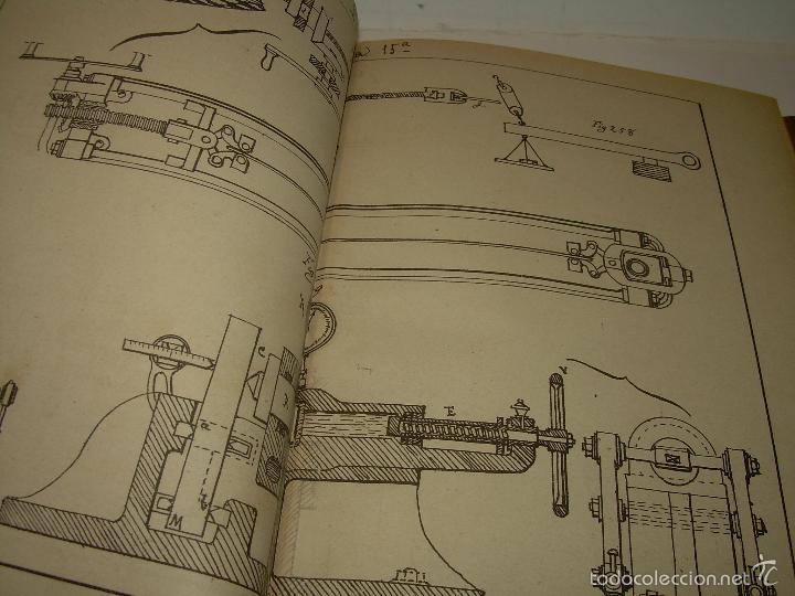 Libros antiguos: LIBRO TAPAS DE PIEL...APUNTES DE CONSTRUCCIONES INDUSTRIALES..AÑO. 1.885-86.....TODO GRABADOS. - Foto 8 - 56820390