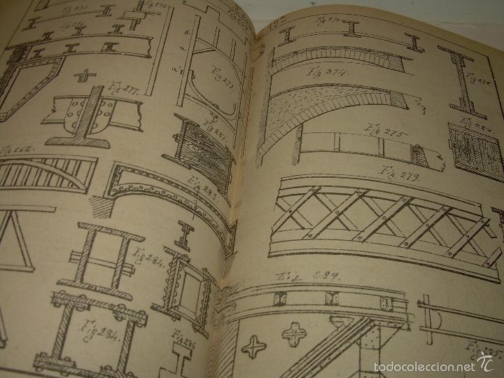 Libros antiguos: LIBRO TAPAS DE PIEL...APUNTES DE CONSTRUCCIONES INDUSTRIALES..AÑO. 1.885-86.....TODO GRABADOS. - Foto 12 - 56820390