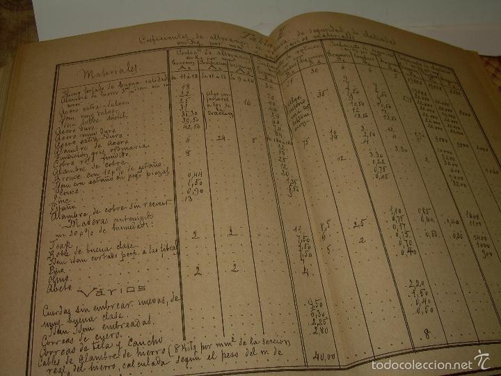 Libros antiguos: LIBRO TAPAS DE PIEL...APUNTES DE CONSTRUCCIONES INDUSTRIALES..AÑO. 1.885-86.....TODO GRABADOS. - Foto 17 - 56820390