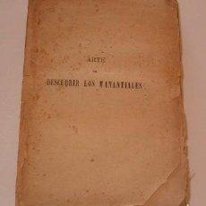Libros antiguos: ABATE (JEAN) PARAMELLE. ARTE DE DESCUBRIR LOS MANANTIALES. RM74663. . Lote 56900605