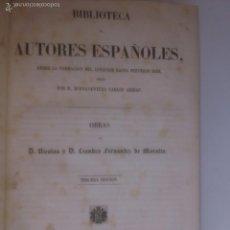 Libros antiguos: OBRAS DE D. NICOLAS Y D. LEANDRO FERNANDEZ DE MORATIN.. Lote 56908389
