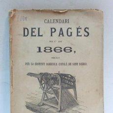 Libri antichi: CALENDARI DEL PAGES PER L'ANY 1866, 120 PAGINAS. VER. Lote 56913207