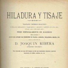 Libros antiguos - Hiladura y Tisaje II. Joaquin Ribera - 56939609