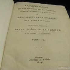 Libros antiguos: CONSPIRACIÓN DE LOS SOFISTAS DE LA IMPIEDAD CONTRA LA RELIGIÓN Y EL ESTADO MEMORIA 1814 RARO MADRID. Lote 56942462