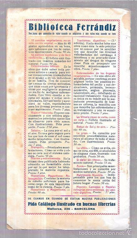 Libros antiguos: 12 COMIDAS PARA DIABÉTICOS. DR. V. L. FERRANDIZ. BARCELONA. 1932. ILUSTRADO. 32 PAGS. 24X13,4 CM. - Foto 2 - 56951990
