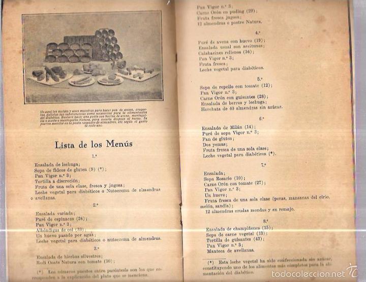 Libros antiguos: 12 COMIDAS PARA DIABÉTICOS. DR. V. L. FERRANDIZ. BARCELONA. 1932. ILUSTRADO. 32 PAGS. 24X13,4 CM. - Foto 5 - 56951990