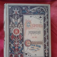 Libros antiguos: VIDA DEL ESCUDERO MARCOS DE OBREGÓN, VICENTE ESPINEL - BIBLIOTECA ARTE Y LETRAS, BARCELONA 1881. Lote 56953424