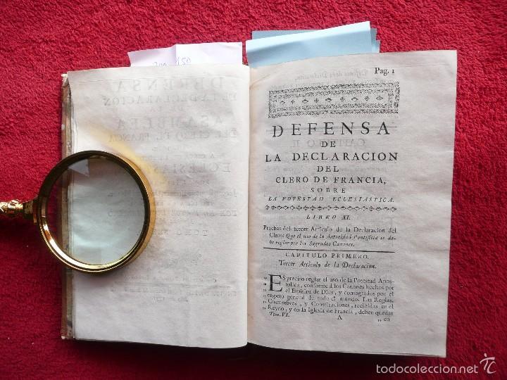 Libros antiguos: DEFENSA DE LA DECLARACION DE LA ASAMBLEA DEL CLERO DE FRANCIA. FCO. MARTINEZ MOLES. TOMO VI, 1771 - Foto 2 - 57073592