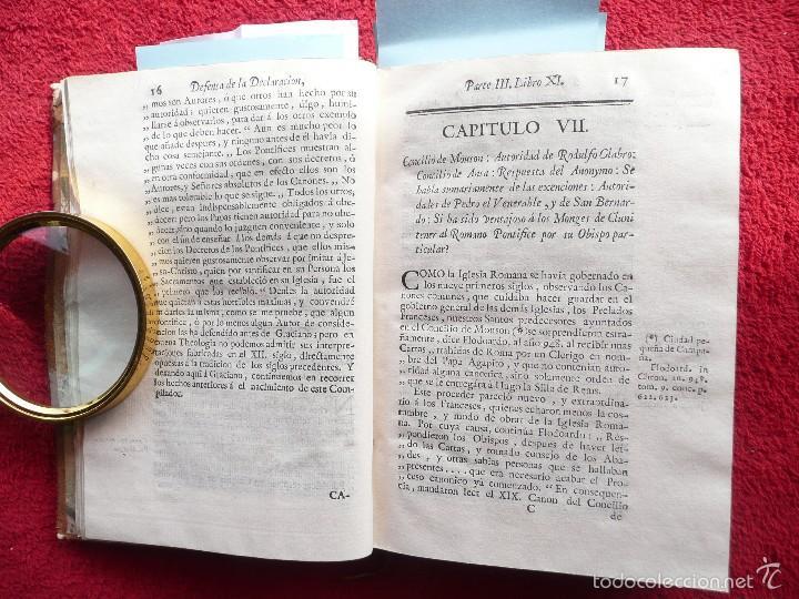 Libros antiguos: DEFENSA DE LA DECLARACION DE LA ASAMBLEA DEL CLERO DE FRANCIA. FCO. MARTINEZ MOLES. TOMO VI, 1771 - Foto 4 - 57073592