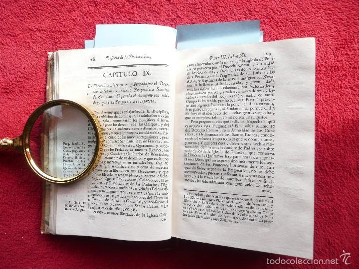 Libros antiguos: DEFENSA DE LA DECLARACION DE LA ASAMBLEA DEL CLERO DE FRANCIA. FCO. MARTINEZ MOLES. TOMO VI, 1771 - Foto 5 - 57073592