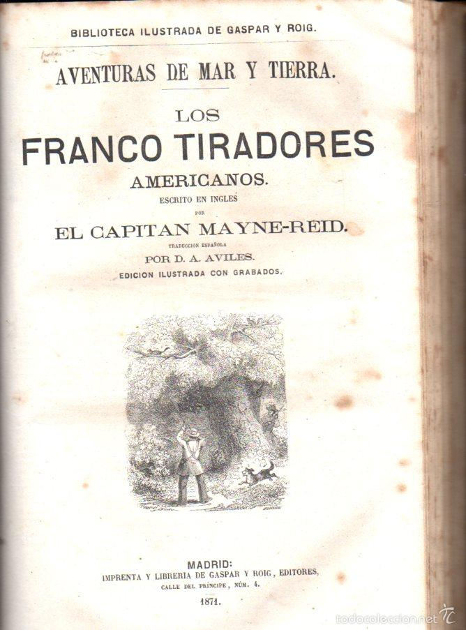 Libros antiguos: OCHO NOVELAS DE MAYNE REID PRIMERA EDICIÓN (GASPAR Y ROIG, 1870-1872) - NUMEROSOS GRABADOS - Foto 2 - 57105720