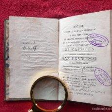 Libros antiguos: RARO. MODO DE DAR EL HABITO Y PROFESION A LOS NOVICIOS.BERNARDINO JOSÉ BARON . MADRID . 1826. Lote 57120236