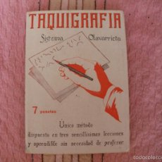 Libros antiguos: TAQUIGRAFIA - SISTEMA OLAVARRIETA - NUEVA TAQUIGRAFIA ESPAÑOLA - AÑOS 30-40 - MIÑON EDITORIALES. Lote 57149689