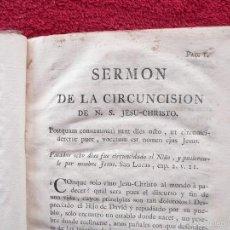 Libros antiguos: SERMONES CARLOS FREY DE NEUVILLE, PREDICADOR DEL LUIS XV. J. A. PELLICER. TOMO V. 1786 I. BLAS ROMAN. Lote 57151845