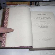 Livres anciens: ADOLFO DE CASTRO, VARIAS OBRAS INEDITAS DE CERVANTES SACADAS DE CODICES DE LA BIBLIOTECA COLOMBINA. Lote 57199581