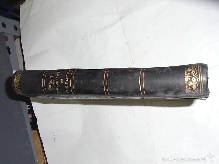 Libros antiguos: Hugoin, Philosophie du droit social, Paris, Librairie Plon,1885 - Foto 2 - 57199676