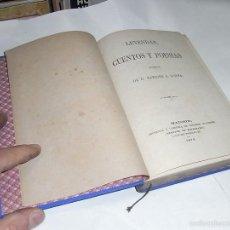 Libros antiguos: NARCISO S.SERRA, LEYENDAS, CUENTOS Y POESIAS, MADRID.1876.IMPRENTA. EDUARDO MTNEZ. Lote 57199890
