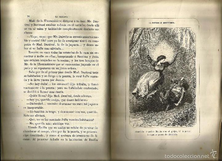 Libros antiguos: LIBRO *LA ALDEANA DE MONTFERMEIL* -Paul de Kock- Año 1864. - Foto 3 - 57224354