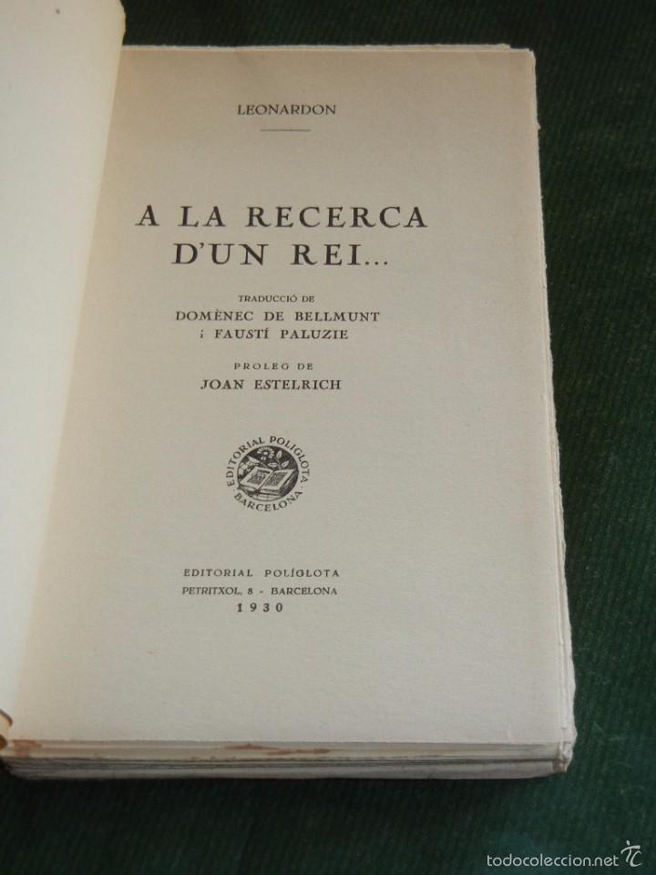 Libros antiguos: A LA RECERCA DUN REI.., DE HENRI LEONARDON, 1930 - Foto 2 - 57252575