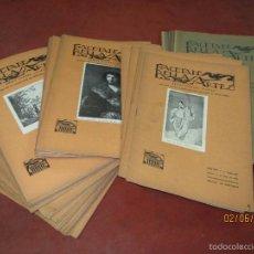 Libros antiguos: ANTIGUO LOTE 45 REVISTA QUINCENAL ILUSTRADA *GACETA DE BELLAS ARTES* PINTURA ESCULTURA ARTES 1920S.. Lote 57309450