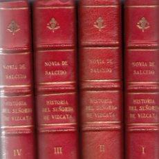 Libros antiguos: P. NOVIA DE SALCEDO. DEFENSA HISTÓRICA DEL SEÑORÍO DE VIZCAYA. 4 VOLS. BILBAO, 1851.. Lote 57269491