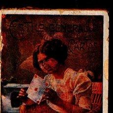Libros antiguos: ESTILO GENERAL DE CARTAS FAMILIARES, MERCANTILES, AMOROSAS, ETC (GASSÓ, C. 1900). Lote 57325567
