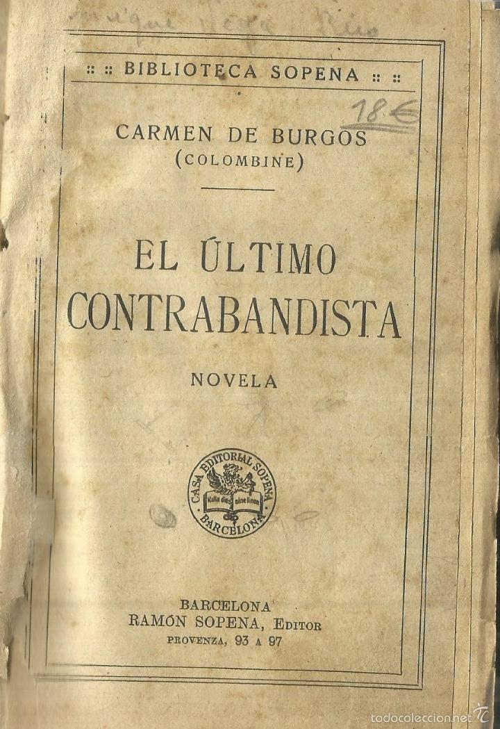Resultado de imagen de EL ULTIMO CONTRABANDISTA CARMEN DE BURGOS