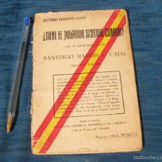 Libros antiguos: ¿ TIENE EL JUGADOR SENTIDO COMUN ?. SALVADOR RODRIGEZ RAMOS. PROLOGO DE RAMON Y CAJAL. Lote 57356984