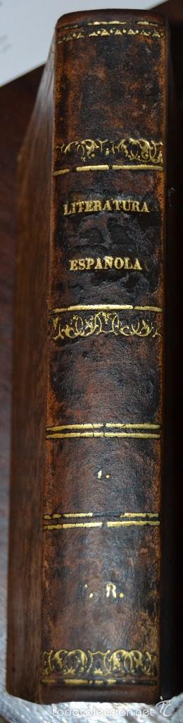 HISTORIA DE LA LITERATURA ESPAÑOLA - TOMO IV - M. G. TICKNOR - MADRID 1856. PASTA ESPAÑOLA MUY BUENA (Libros antiguos (hasta 1936), raros y curiosos - Literatura - Narrativa - Otros)
