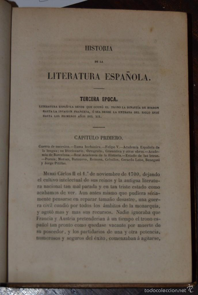 Libros antiguos: Historia de la Literatura Española - Tomo IV - M. G. Ticknor - Madrid 1856. PASTA ESPAÑOLA MUY BUENA - Foto 5 - 57391034