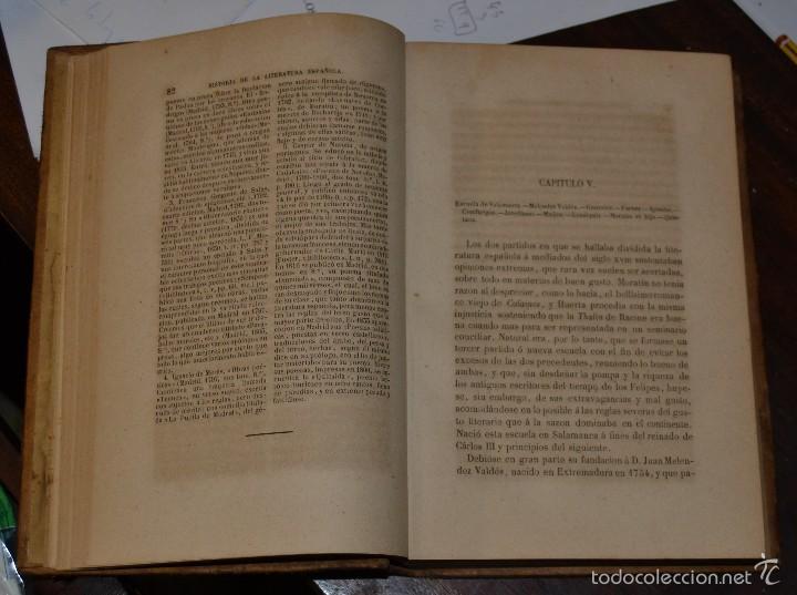 Libros antiguos: Historia de la Literatura Española - Tomo IV - M. G. Ticknor - Madrid 1856. PASTA ESPAÑOLA MUY BUENA - Foto 6 - 57391034