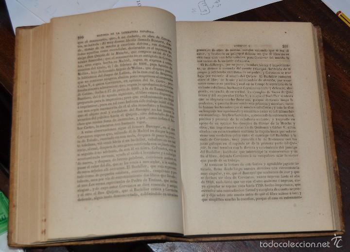 Libros antiguos: Historia de la Literatura Española - Tomo IV - M. G. Ticknor - Madrid 1856. PASTA ESPAÑOLA MUY BUENA - Foto 7 - 57391034