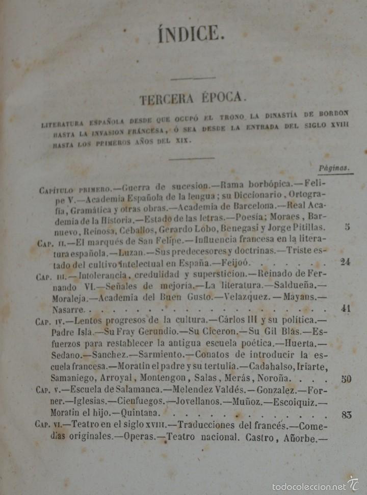 Libros antiguos: Historia de la Literatura Española - Tomo IV - M. G. Ticknor - Madrid 1856. PASTA ESPAÑOLA MUY BUENA - Foto 9 - 57391034